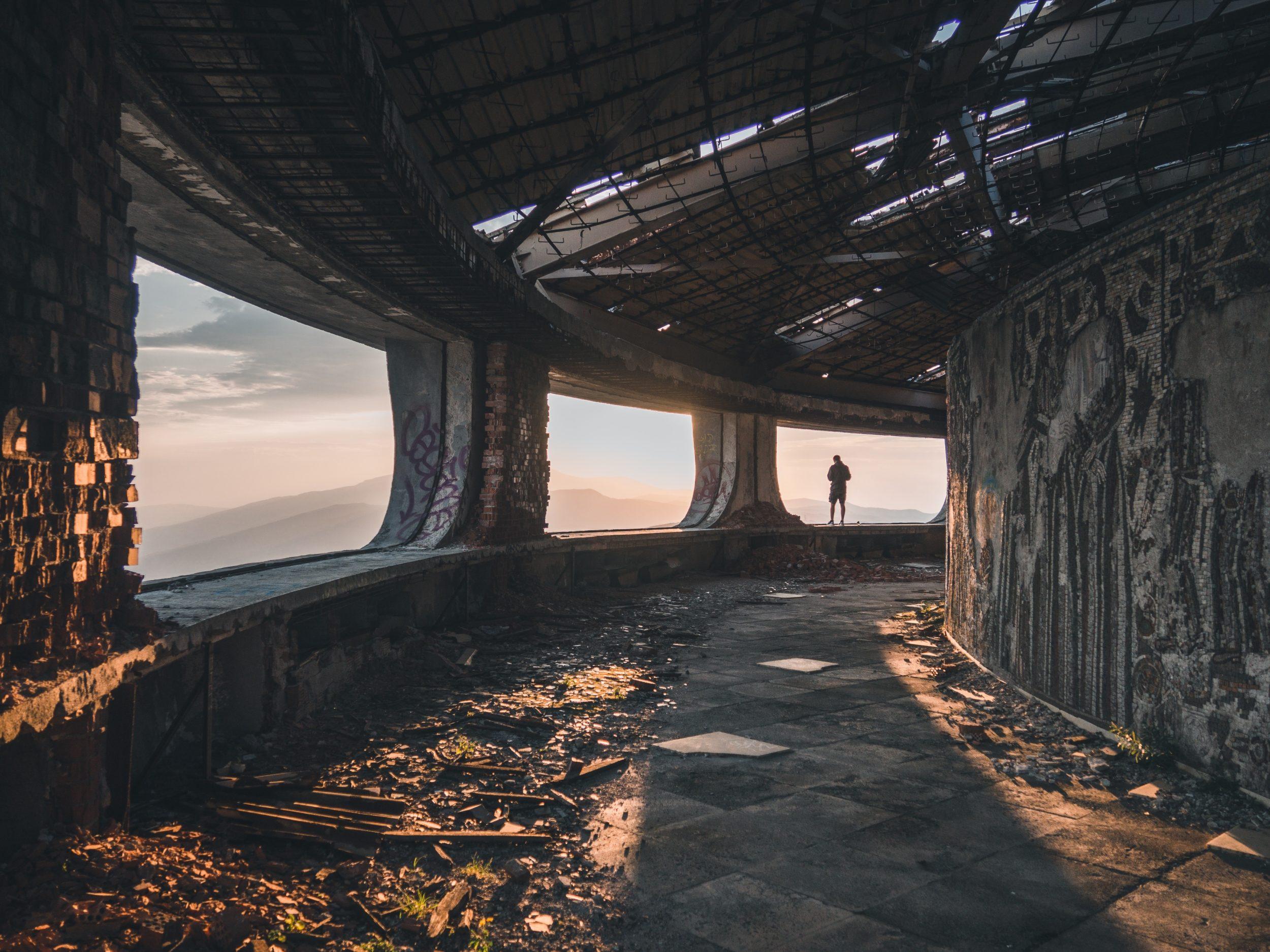 The abandoned Soviet sculpture at Buzludzha Peak, Bulgaria (Photo by Natalya Letunova)